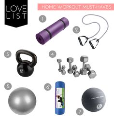 the fit lift: home workout must haves