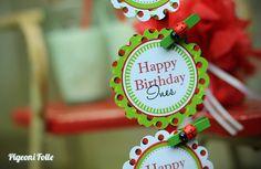 Pigeoni Folle ladybug party theme