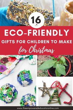 eco friendly christmas gifts for children to make for christmas - great early learning toddler, preschooler and oosh care activity ideas - eco-friendly gifts for kids to make Christmas Activities For Kids, Craft Activities, Activity Ideas, Crafts For Kids, Family Activities, Preschool Crafts, Kid Made Christmas Gifts, Christmas Bulbs, Christmas Crafts