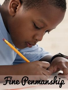 Fine Penmanship | Grown Ups Magazine - Encourage excellence in #handwriting with a sweet reward!