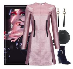 """""""Drive"""" by easy-dressing ❤ liked on Polyvore featuring Carven, Giuseppe Zanotti, Gucci, WhatToWear, pinkandblack, polyvoreeditorial and onebigpicture"""