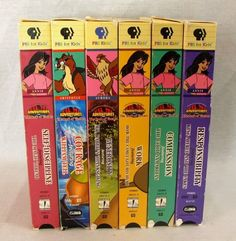 Adventures from the Book of Virtues Lot of 6 VHS Videos Character Building Shows