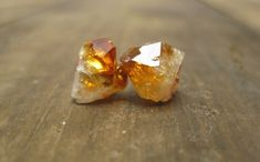 Your place to buy and sell all things handmade Citrine Crystal, Minion, Stud Earrings, Crystals, Unique Jewelry, Stones, Fashion, Moda, Rocks