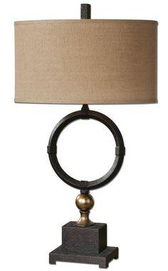 Pueblo Black Circle Table Lamp by Uttermost