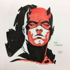 Daredevil by Michael Cho Marvel Art, Marvel Artwork, Character Art, Daredevil Art, Comic Book Style, Comic Illustration, Superhero Art