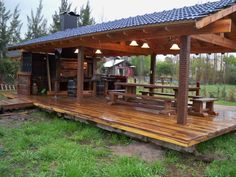 An outdoor kitchen can be an addition to your home and backyard that can completely change your style of living and entertaining. Outdoor Rooms, Outdoor Life, Outdoor Living, Outdoor Decor, Backyard Gazebo, Backyard Retreat, Outdoor Pavilion, Outdoor Kitchen Design, Rustic Outdoor Kitchens
