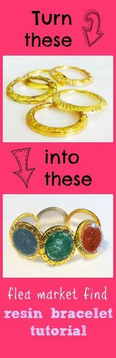 Resin Obsession blog:  upcycle old watch parts into a resin bracelet
