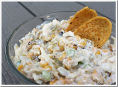 Grilled Corn & Green Chile Dip