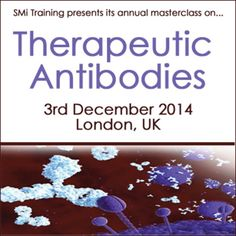 Therapeutic Antibodies on Wednesday December 03, 2014 at 10:00 am - 4:30 pm at Holiday Inn Bloomsbury, Coram Street, London, WC1N 1HT, UK, Category: Conferences, Price: Standard: 599 + VAT, This masterclass will provide an introduction to therapeutic antibodies, pitfalls to be avoided in their development and strategies for their state-of-the-art design. Speakers: Peter Sondermann, CSO, SuppreMol GmbH