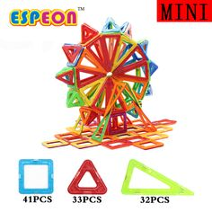 106pcs Anime Mini Magnetic Block MAGNETIC 3D DIY TOY Building Bricks Early Educational  Toys for Children
