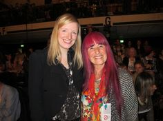 The incredible Sarah Burton with her legendary tutor Natalie Gibson at the Central Saint Martins catwalk show