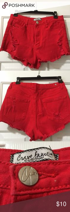 Jean Shorty shorts Shorty shorts. So cute at the beach or just hanging out.. Great to bundle and sVs an additional 20 percent off 2 or more items❤️❤️❤️❤️ Almost Famous Shorts