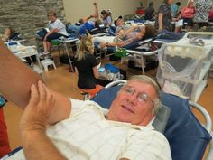 """Richard Eilerman made his 63rd donation -""""I just come whenever they have it,"""" he said."""