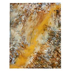 This giclee by Blakely Bering applies the colors of orange, brown, and beige to that transforms the colors into an abstract creation. Evolving Ember, $899.95