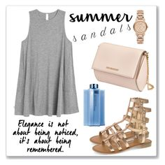 """Summer Sandals"" by nnniki ❤ liked on Polyvore featuring Chinese Laundry, RVCA, Burberry, Givenchy and summersandals"