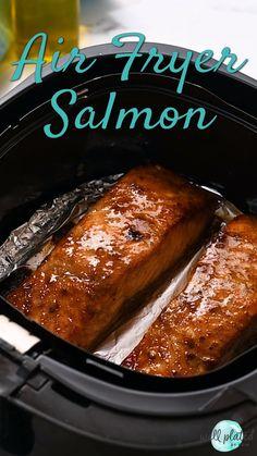 Salmon In Air Fryer, Air Fryer Recipes Salmon, Air Fryer Recipes Videos, New Air Fryer Recipes, Air Fryer Recipes Vegetables, Air Frier Recipes, Air Fryer Dinner Recipes, Roasted Vegetables, Healthy Quick Recipes
