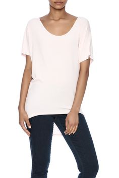 Oversized scooped neck tee with high low style.       Oversized Soft Tee by Jolie. Clothing - Tops - Short Sleeve Clothing - Tops - Casual Alabama
