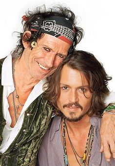 Keith Richards and Johnny Depp. Johnny Depp used Keith as inspiration for his part of Captain Jack Sparrow Tim Burton, Hollywood Action Movies, Here's Johnny, Johny Depp, Captain Jack Sparrow, Chef D Oeuvre, Raining Men, Romantic Movies, Keith Richards