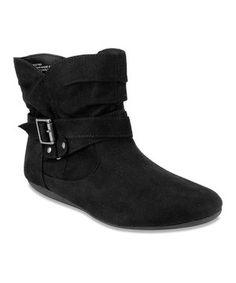 Look at this #zulilyfind! Black Scrunch Ankle Boot by Rampage #zulilyfinds