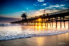 San Clemente Pier, Surfing, Paradise, Sunset, Gallery, Beach, Pictures, Water, Prints
