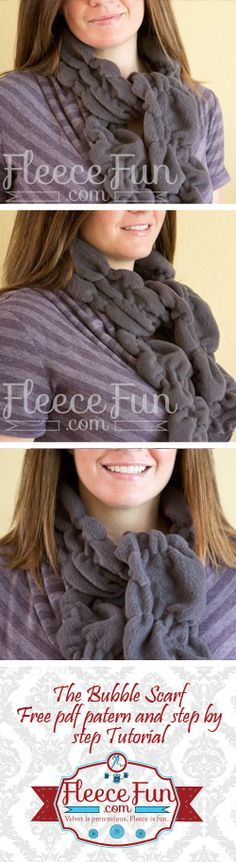 Easy bubble scarf out of fleece