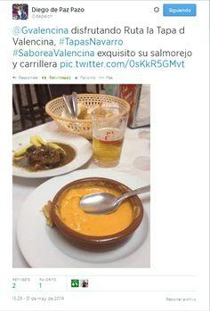 Diego de Paz también #SaboreaValencina y nos manda este tweet desde #TapasNavarro