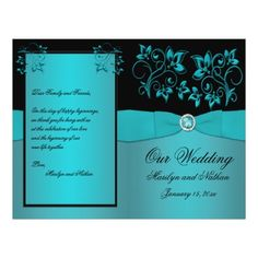 Black and teal wedding invitations!