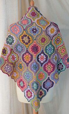 Ravelry: Mystical Lanterns Shawl pattern by Jane Crowfoot