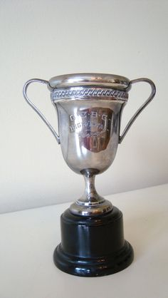 Vintage trophy Cup Silverplate 1941 by edithandevelyn