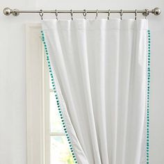 Find teen window treatments and more window coverings at Pottery Barn Teen. Shop a variety of window treatments and hardware perfect for teens. Teen Curtains, Sheer Linen Curtains, Drapes And Blinds, Bedroom Drapes, Panel Curtains, Nursery Curtains, Morrocan Curtains, Master Bedroom, Drapery