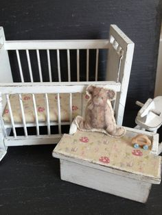 Dolls House Miniature Nursery 6 piece Set by Artistique on Etsy, £38.00