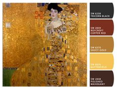 Adele Bloch-Bauer's Portrait by Gustav Klimt | 15 Exquisite Palettes Inspired By Our Favorite Paintings