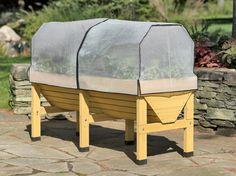 VegTrug Patio Garden with Covers | Buy from Gardener's Supply  Not that hard to build....Great hay/grain feeder for horses
