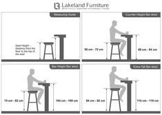 Bar Stool Size Guide - What Height and width Should my bar stool be? Plywood Furniture, Home Furniture, Furniture Design, Kitchen Furniture, Furniture Dolly, Industrial Furniture, Bedroom Furniture, Extra Tall Bar Stools, Counter Height Bar Stools