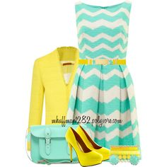 """""""Zig-Zag Dress"""" by mhuffman1282 on Polyvore"""