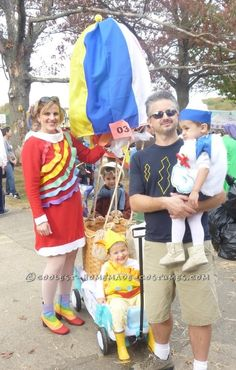 """Coolest """"Sky"""" Family Costume: Up, Up and Away!!... This website is the Pinterest of costumes"""
