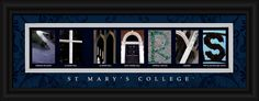 St. Mary's College (Notre Dame, Indiana) Officially Licensed Framed Letter Art