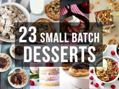 Community Post: 23 Small Batch Desserts (So You Don't Have To Worry About Breaking Your Diet) Small Desserts, Desserts Menu, Great Desserts, Mini Desserts, Delicious Desserts, Dessert Recipes, Dessert Ideas, Dinner Recipes, Layered Desserts