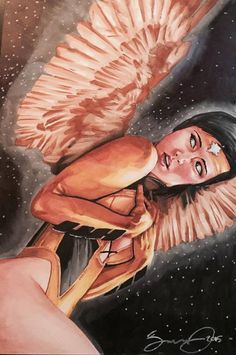 Artist Jonathan Gordon painted a portrait of his friend, and made her look like Dawnstar.