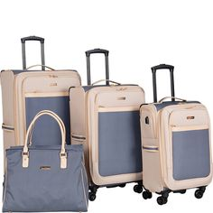 11 Best Luggage Sets to Buy in 2019 - travel luggage Cute Luggage, Best Luggage, Travel Luggage, Travel Bags, Luxury Luggage, 3 Piece Luggage Set, Luggage Sets, Louis Vuitton Luggage Set, Cute Suitcases