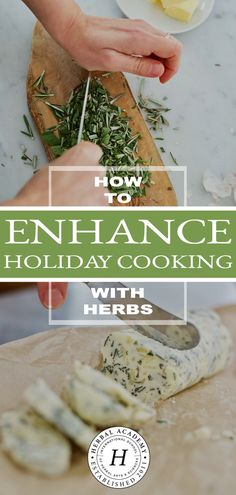 How to Enhance Holiday Cooking with Herbs | Herbal Academy | Here are some tips and tricks to help you include herbs in your holiday dishes. Plus, get a free chart with 20 herbs to enhance your holiday cooking, too!