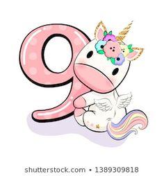 Baby Unicorn, Cute Unicorn, Unicorn Birthday, Birthday Wishes Cards, Birthday Party Invitations, Horse Template, Unicorn Merchandise, Baby Shower Princess, Topper