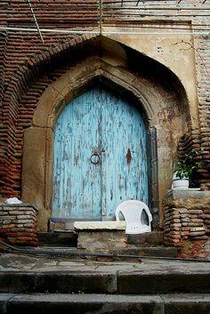 Belltower Door, Upper Bethlehem Church, Sololaki Neighborhood, 2002, Tbilisi, Georgia, via Flickr.