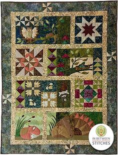 """Block Party Studios Good Points 46/"""" x 59 1//2/"""" Wall Hanging Quilt Pattern"""