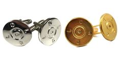 Nickel and Brass Cufflinks from Bullets2Bandages