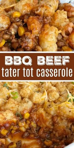 Lower Excess Fat Rooster Recipes That Basically Prime Bbq Beef Tater Tot Casserole Recipe Dinner Tater Tot Casserole Tater Tot Casserole Is A Family Favorite Dinner Recipe. Prepared Bbq Ground Beef Is Topped With Cheese And Mini Tater Tots That Are Cooked Beef Tater Tot Casserole, Tater Tot Recipes, Beef Casserole Recipes, Ground Beef Casserole, Tatertot Casserole Recipe, Sloppy Joe Casserole, Chicken Casserole, Ground Beef Baked Beans, Ground Beef Recipes
