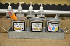 Pencil Management: Farmhouse Style Classroom Decor with burlap and black