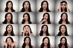 """Mit deinem Gesicht kannst du jede Menge Emotionen zum Ausdruck bringen. Und das, ohne auch nur ein Wort zu sagen. Der US-amerikanische Fotograf Mike Larremorehat in seinem """"Faceboard Project"""" eine Palette der menschlichen Gesichtsausdrücke erstellt – im w"""