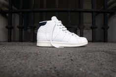 04f18d6041d39 Details about ADIDAS STAN SMITH MID SNEAKERS WHITE BLUE BB4862 WOMENS SZ US  W 8.5 UK 7 EUR 40