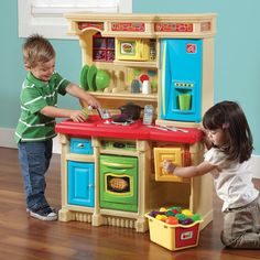 play kitchen sets for kids provide everything needed to take kids culinary creations from stove top to table. For the best play kitchens and toy kitchen sets shop now! Play Kitchens, Bright Kitchens, Uptown Kitchen, Wooden Play Kitchen Sets, Toy Kitchen, Pretend Play Kitchen, Italian Interior Design, Matches Today, Custom Kitchens